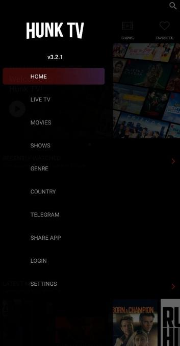 hunk tv ad free apk