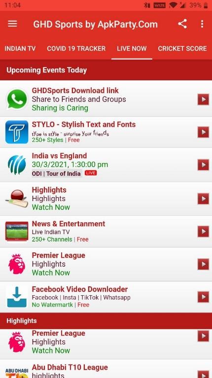 GHD Sports free mod